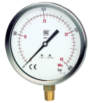 Manometri a molla tubolare standard DN 150