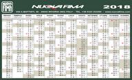 Calendario 2018 Nuova Fima Italia