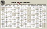 Calendario Nuova Fima Spagna