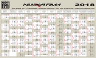 Calendario 2018 Nuova Fima Spagna