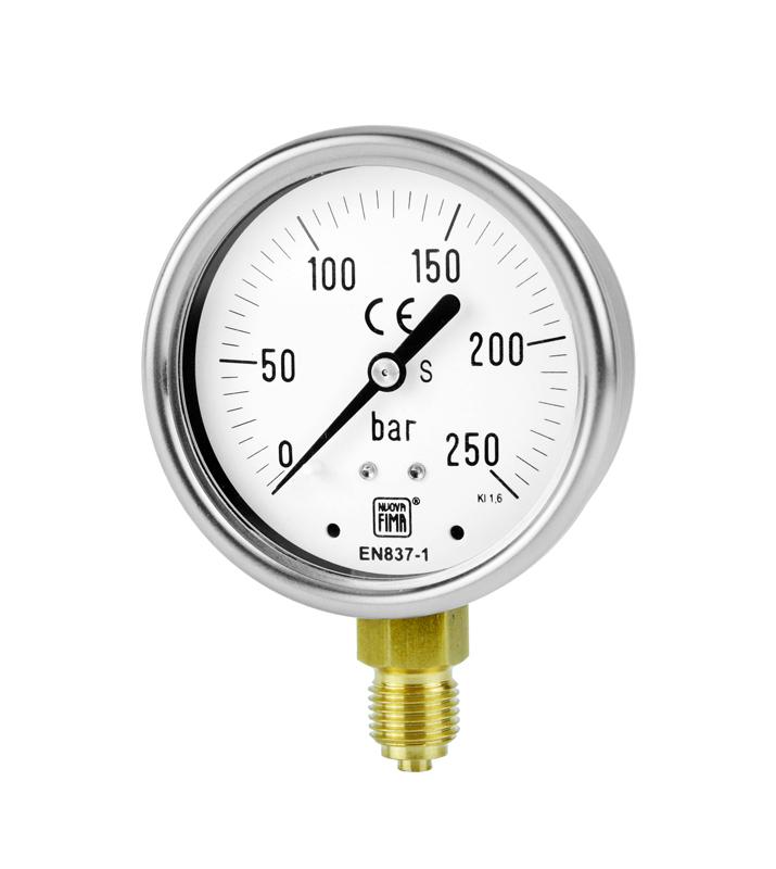 Bourdon Tube Pressure Gauges Anti Vibration Version Ds 2 5